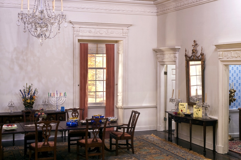 Kupjack Georgian Dining Room- Hanukkah