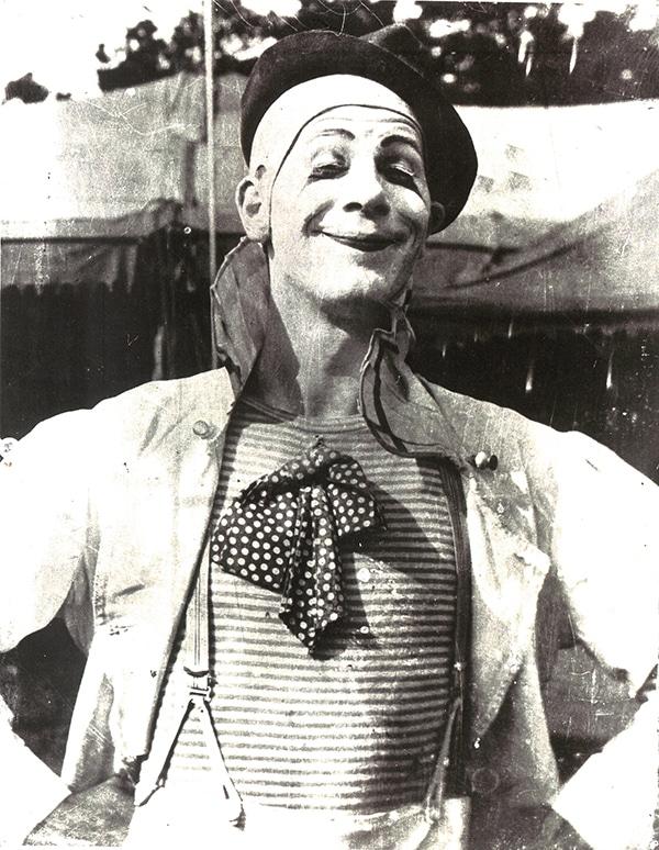 Jean LeRoy in Clown Makeup