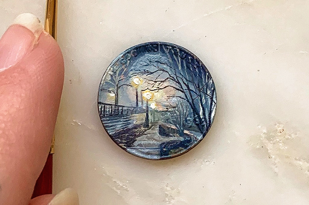 Painting on Coin by Bryanna Marie
