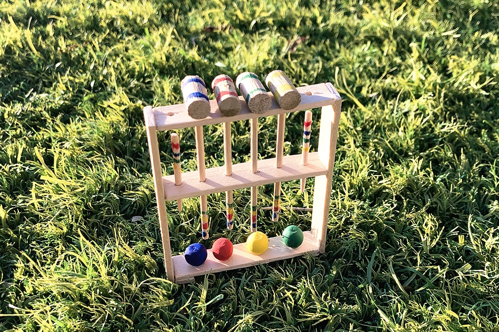 How To Make a Miniature Croquet Set