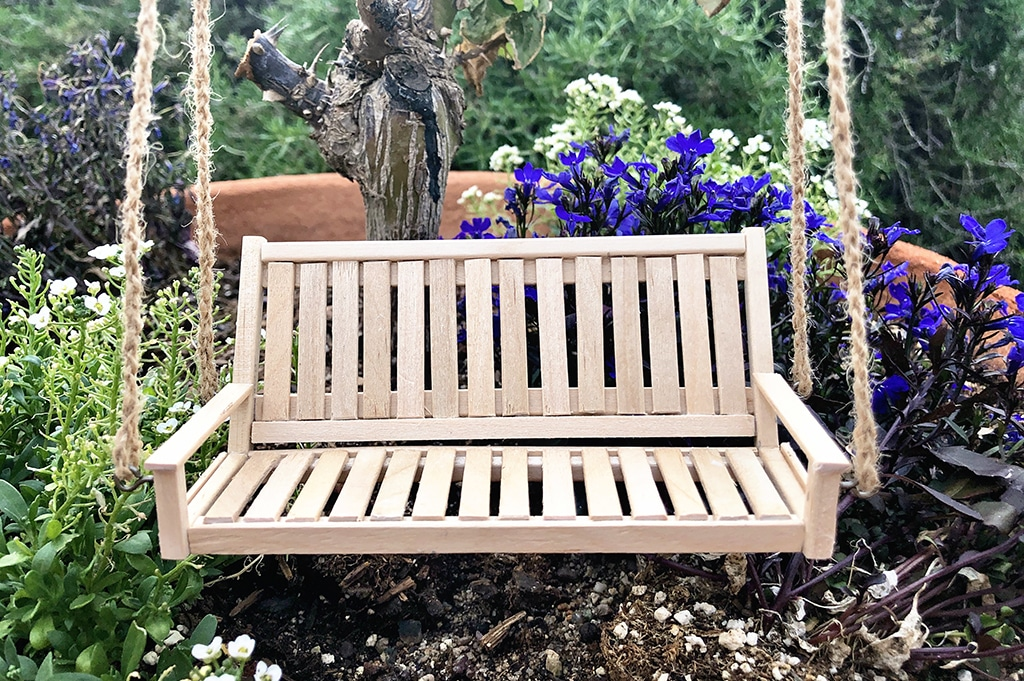 How To Make a Miniature Porch Swing