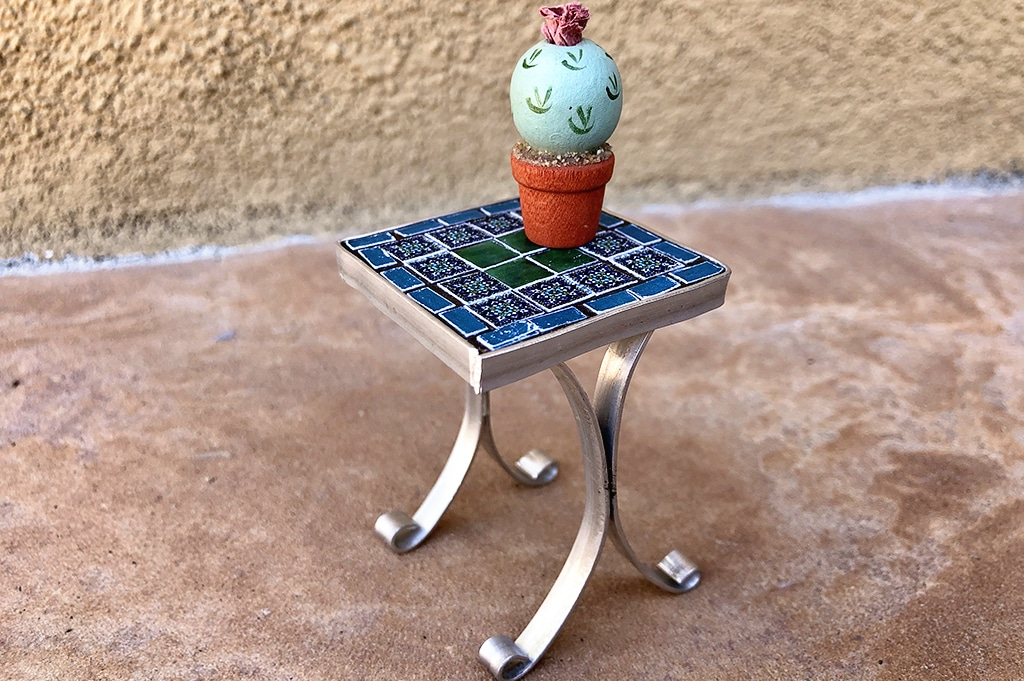 How To Make a Miniature Tile Table