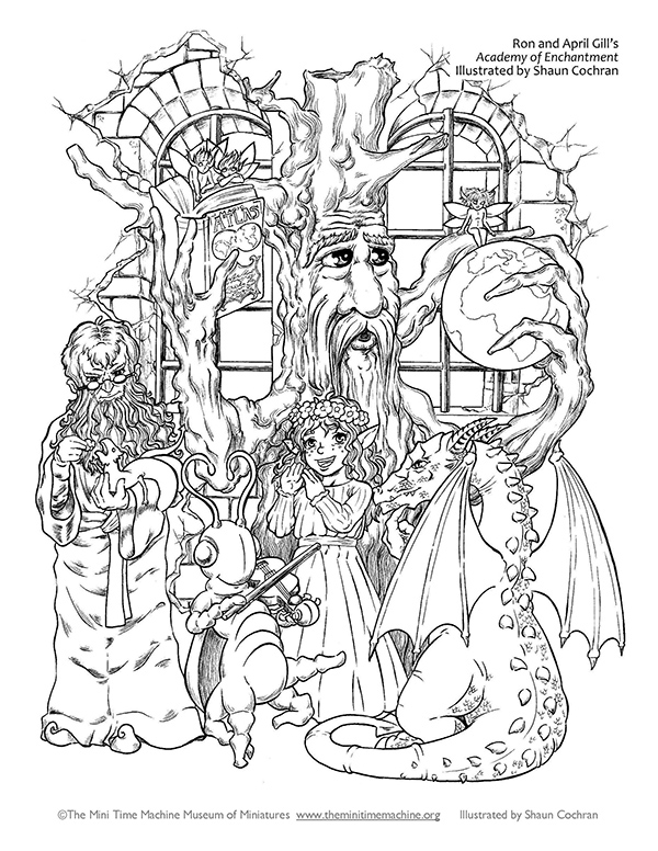 Academy of Enchantment Coloring Page