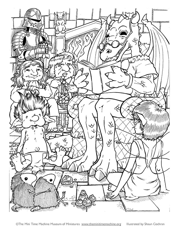 Dragon Clubhouse Coloring Page