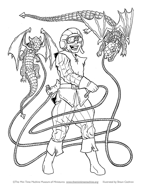 Dragon Tamer Coloring Page
