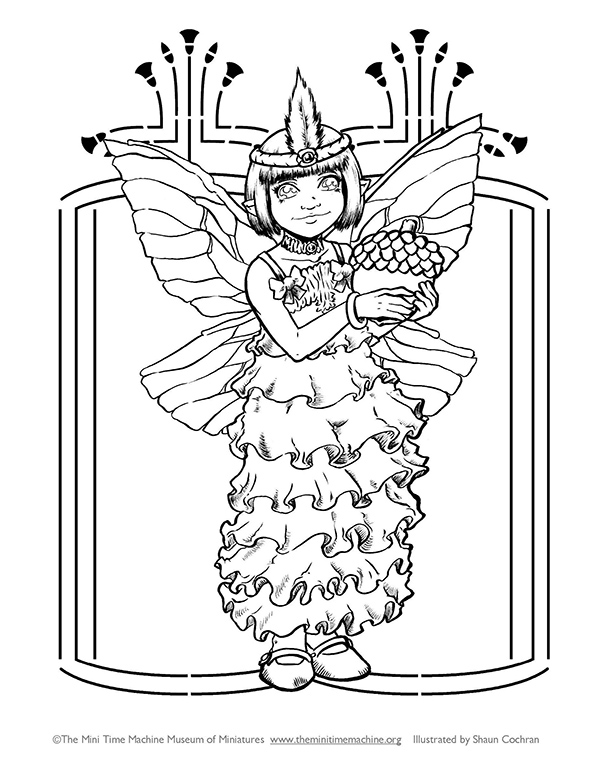 Flapper Fairy Caitlin Coloring Page