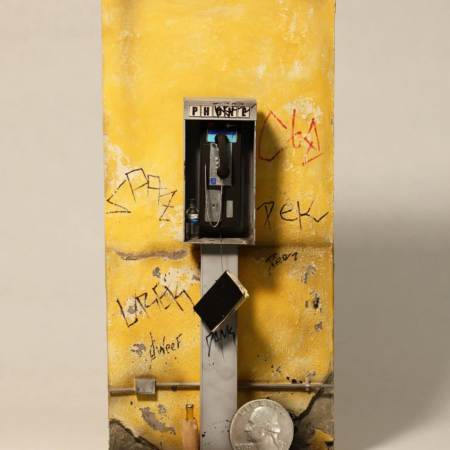Mario Patino Payphone with coin